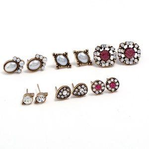 Jewelry - NEW 6 pairs stud earrings set